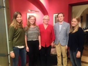 Delegation unseres Vorstands mit Frau Senff von der Passauer Tafel