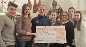 Spendenübergabe an Bruder Lothar